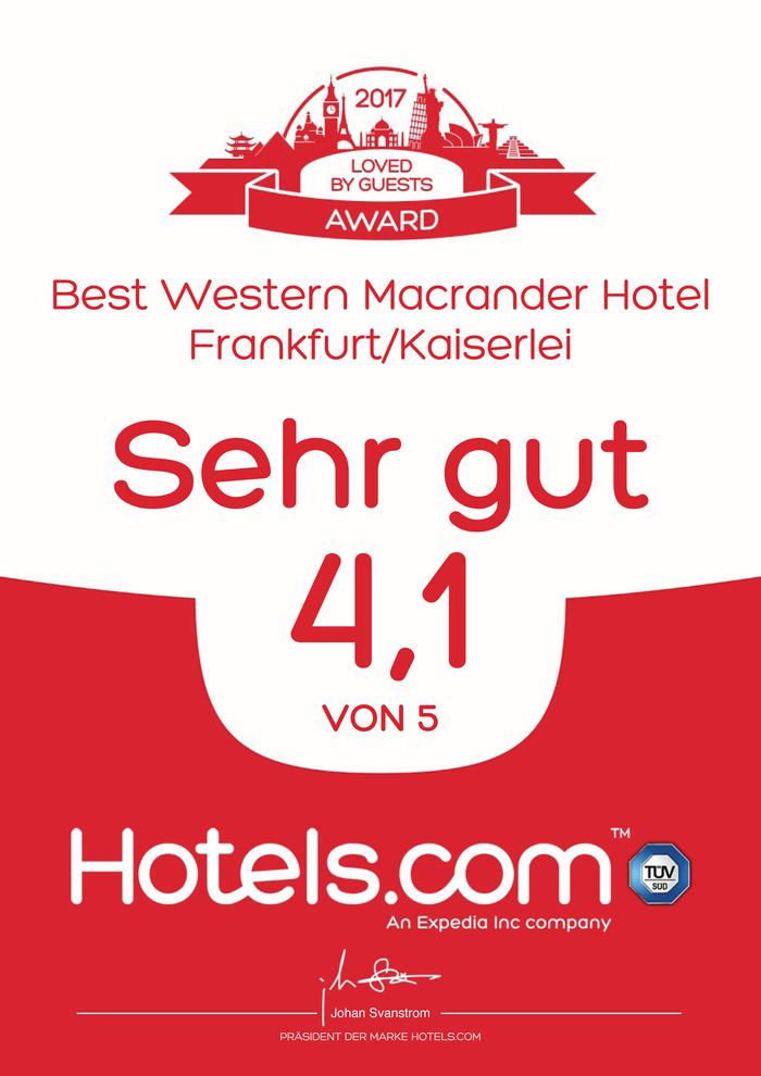 Hotels.com Loved by guests Award 2017